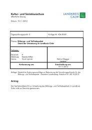 Bildungs- und Teilhabepaket - Landkreis Calw