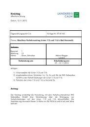Abschluss Verkehrsvertrag Linien 113 und 116 in ... - Landkreis Calw