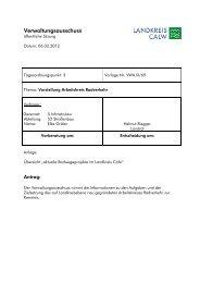 Vorstellung Arbeitskreis Radverkehr - Landkreis Calw