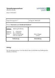 Information zum Straßenbetriebsdienst - Landkreis Calw