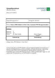 Umweltausschuss - Landkreis Calw