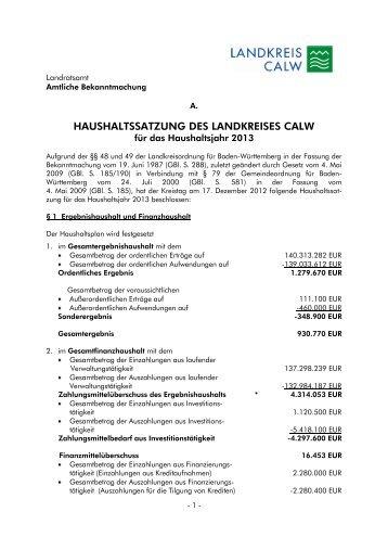 Vorlage Kopfbogen - Landkreis Calw