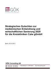 Strategisches Gutachten zur Zukunft der ... - Landkreis Calw
