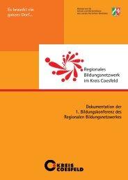 Dokumentation der 1. Bildungskonferenz des ... - Kreis Coesfeld
