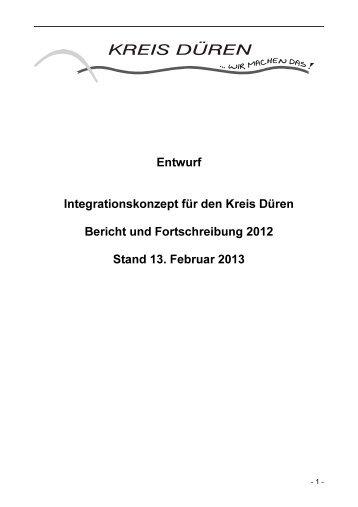 Integrationskonzept 2012 - Kreis Düren