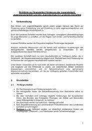 Richtlinie zur finanziellen Förderung der Jugendarbeit ...