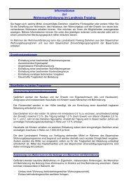 Wohnungsbauförderung - Landratsamt Freising