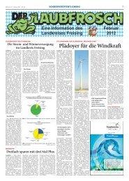 Laubfrosch 1/2012 - Landratsamt Freising