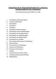 Tätigkeitsbericht der Heimaufsichtsbehörde des Landkreises ...