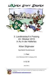 3. Landkreislauf in Freising 24. Oktober 2010 in Au in der Hallertau ...