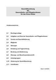 Geschäftsordnung Gesundheits- und Pflegekonferenz - Kreis Höxter