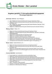 Kreistagsmitglieder - Kreis Höxter