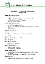 Sachkundige Bürger - Kreis Höxter