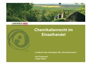 Chemikalienrecht im Einzelhandel - Der Landkreis Harz