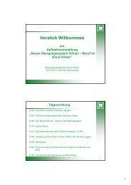 Umsetzung des neuen Konzepts im Kreis Höxter / Beirat Schule-Beruf
