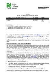 Vorlage Nr. 504 /WP09 öffentliche Sitzung Vorlage zu ... - Kreis Kleve