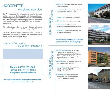 Flyer Arbeitgeberservice [Download,*.pdf, 0,49 ... - Landkreis Meißen