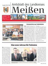 Eine neue Adresse für Patienten - Landkreis Meißen