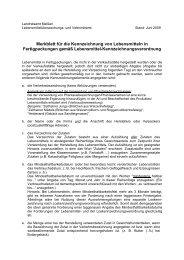 Merkblatt für die Kennzeichnung von Lebensmitteln in ...