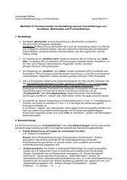 Merkblatt für Direktvermarkter zur Herstellung und zum ...