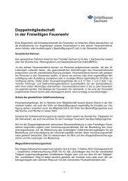 Merkblatt der Unfallkasse Sachsen zum Thema Doppelmitgliedschaft