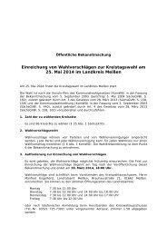 Öffentliche Bekanntmachung [Download,*.pdf, 0 ... - Landkreis Meißen