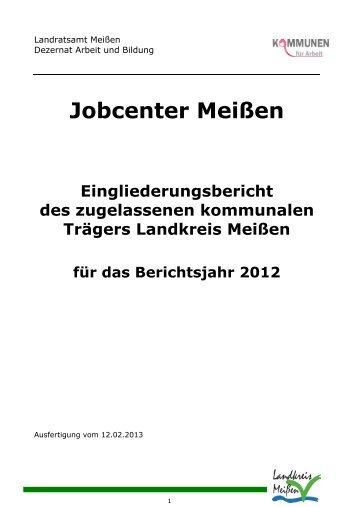 Eingliederungsbericht Jobcenter 2012 - Landkreis Meißen