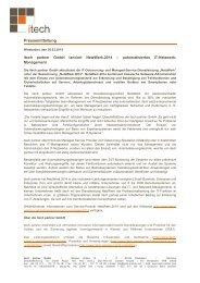itech partner GmbH lanciert NetzWerk.2014 - automatisiertes IT-Netzwerk-Management