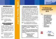 Fortbildungs- veranstaltungen 2010 - Kreis Paderborn