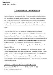 Übersicht über die Theaterszene im Kreis Paderborn
