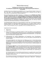 Aufforderung zur Einreichung von Wahlvorschlägen - Kreis Paderborn