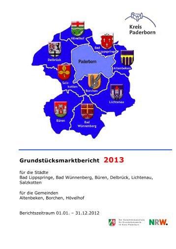 Grundstücksmarktbericht 2013 - Kreis Paderborn