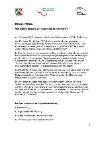 Inklusion-StG-Dokumentation-130116 - Kreis Paderborn