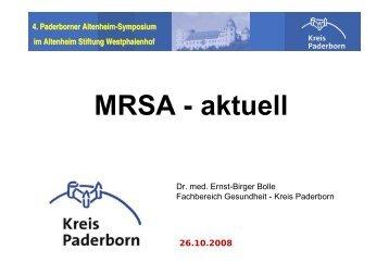 MRSA - aktuell