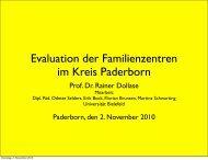 Evaluation der Familienzentren im Kreis Paderborn