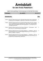 Amtsblatt Nr. 31 vom 03.07.2013 - Kreis Paderborn