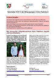 Newsletter Nr. 4/2013 der Bildungsregion Kreis Paderborn