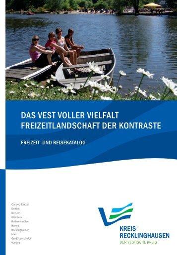 Freizeit- und Reisekatalog Vest Kreis RE - Kreis Recklinghausen