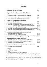 AO-SF-Verfahren: Handreichung des Schulamtes - Kreis Paderborn