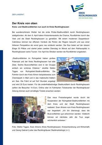 Der Kreis von oben - Kreis Recklinghausen