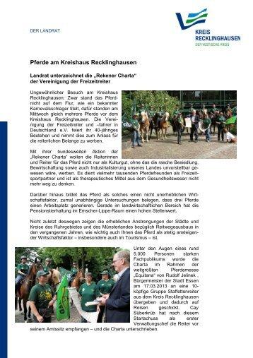 Landrat unterzeichnet Rekener Charta in RE - Kreis Recklinghausen