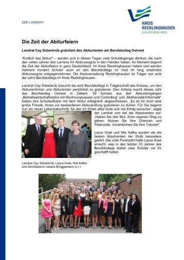 Die Zeit der Abiturfeiern - Kreis Recklinghausen
