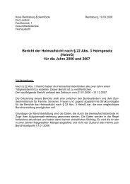 Bericht der Heimaufsicht für die Jahre 2006 und 2007 - Kreis ...