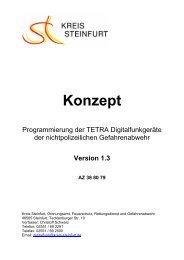 Konzept zur Programmierung der TETRA ... - Kreis Steinfurt