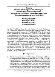 Satzung über die Erhebung von Elternbeiträgen in ... - Kreis Steinfurt