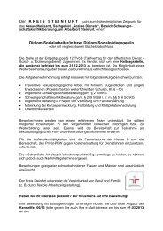 Diplom-Sozialarbeiter/in bzw. Diplom ... - Kreis Steinfurt