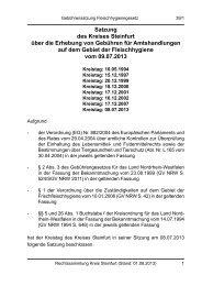 Satzung über die Erhebung von Gebühren für ... - Kreis Steinfurt
