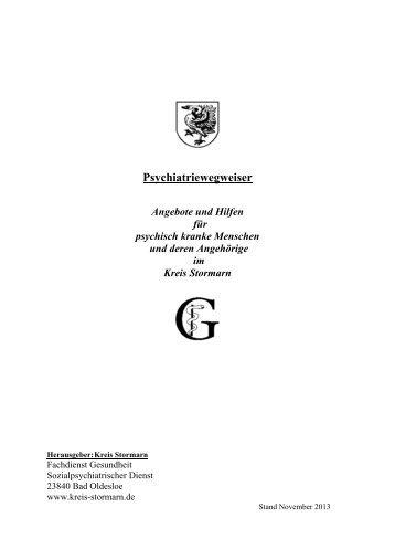 Psychiatriewegweiser - Angebote und Hilfen für ... - Kreis Stormarn