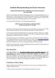 Wiederholung der Aufforderung zur Einreichung ... - Kreis Stormarn