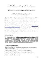 Aufforderung zur Einreichung von ... - Kreis Stormarn